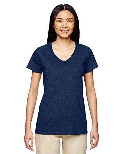 Gildan Women's Softstyle V-Neck T-Shirt - XX-Large - Navy