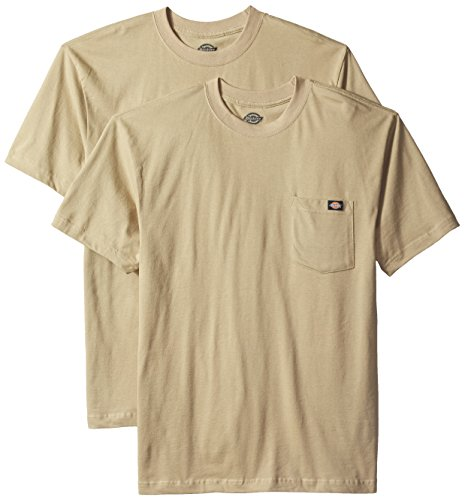 (Dickies Men's Short Sleeve Pocket T-Shirt 2-Pack, Desert Sand, X-Large)