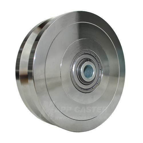 (Mapp Caster PAH110, V-Groove Zinc Plated Steel Wheel 6
