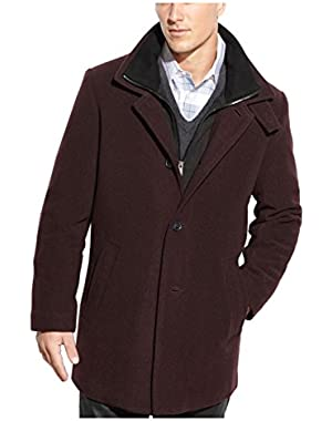 Calvin Klein Coleman Full Zip Bib Burgundy Coat 46 Regular 46R Wool Blend