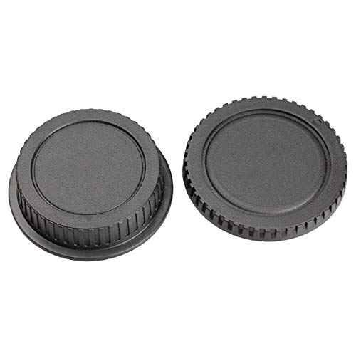 10pcs//Set of Rear Lens Cover with Camera Body Cap for Canon DSLR SLR EOS EF