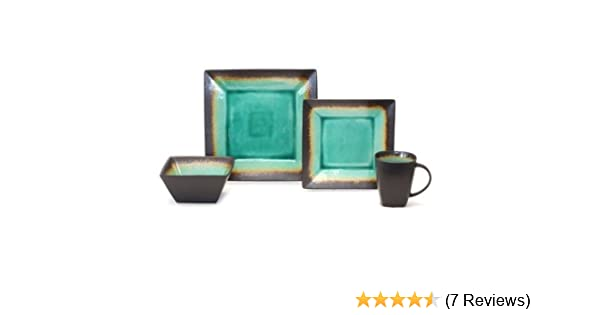Amazing Better Homes And Gardens Jade Crackle Square Dinner Plate ...