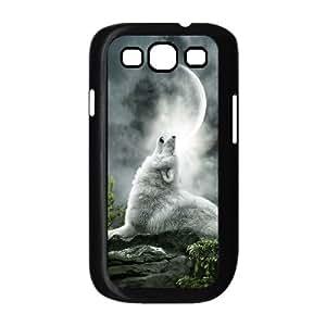 ALICASE Diy Back Case Wolf Howling For Samsung Galaxy S3 i9300 [Pattern-1] WANGJING JINDA