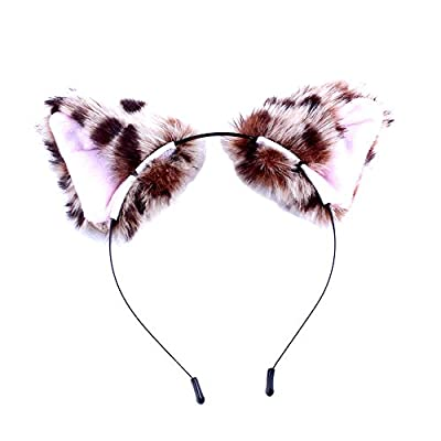 BAOBAO Women Girl Cat Fox Long Fur Ears Headband Party Cosplay Costume Hairband