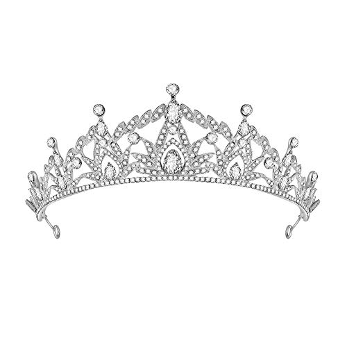 Queen Elizabeth Tiara - HighPlus Rhinestone Tiara Crystal Crown Shining Rhinestone Tiara Wedding Hair Accessories