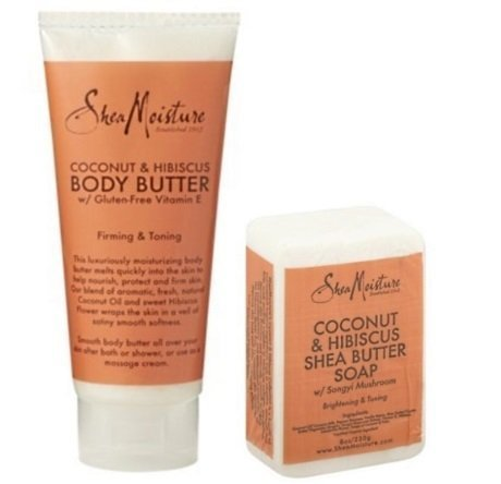 Shea Moisture Organic Coconut & Hibiscus Body Butter and Coc