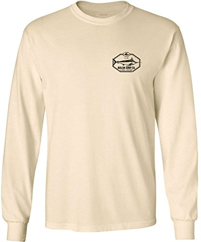 Logo Long Sleeve Cotton T-Shirt-Natural/b-S (Logo Natural)