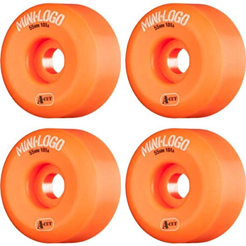 可聴オプショナルアクセシブルMiniロゴa-cutオレンジスケートボードホイール – 55 mm 101 a ( Set of 4 )
