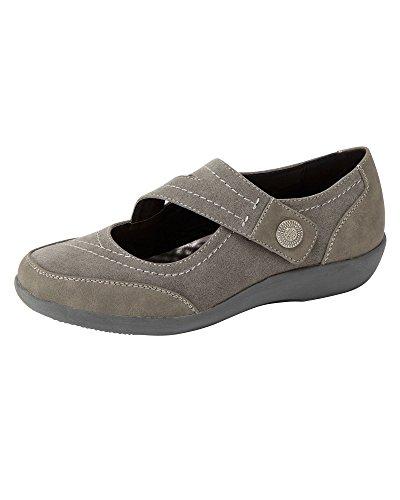 Ligero de confort y E correa Steel Traders Grey para Fit Cotton mujer Damas Zapatos cruzada 1IxwYF