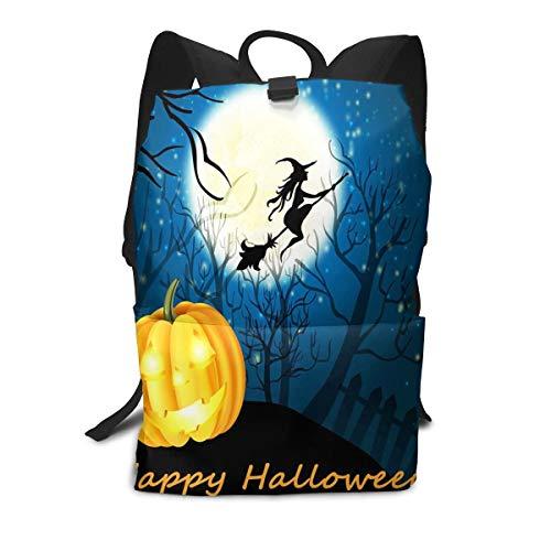 (Appy Halloween Witch Pumpkin School Backpack Travel Laptop Backpack College School Computer)