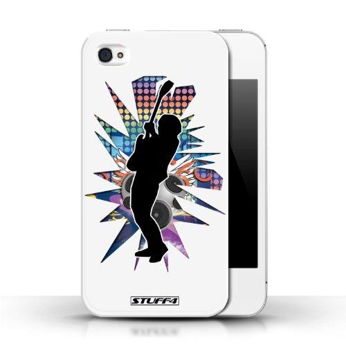 Etui / Coque pour Apple iPhone 4/4S / Hendrix Blanc conception / Collection de Rock Star Pose