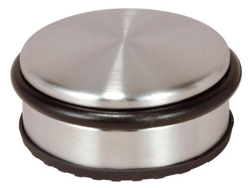 Türstopper aus Edelstahl, flach, Durchmesser ca. 10 cm