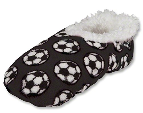 Snoozies Black Soccer Slippers Snoozies Black Black Slippers Soccer Snoozies Soccer Slippers 14Sq0
