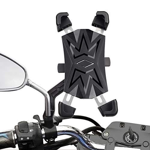 🥇 HASAGEI Soporte Movil Moto Deportiva para 4.5″ -7.2″ Smartphones Anti Vibración Soporte Movil para Moto 360° Rotación