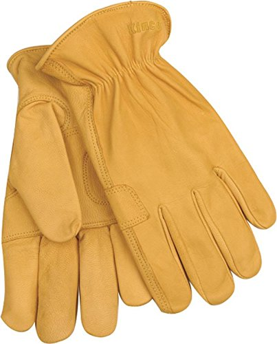 KINCO INTERNATIONAL 192M 044143 Unlined Grain Goatskin Driver Glove, Medium, Tan