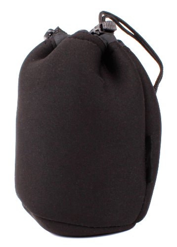 DURAGADGET Jet Black Super-Soft Nylon Pouch in Size Medium for Rokono (B10) BASS+ Mini Bluetooth Speaker