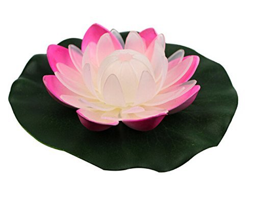 Acmee Multi-function Color Changing LED Floating Lily Pad Light for Pool Pond