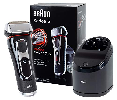 Braun Series 5 Men's Shaver 3 Blades 5090cc (Japanese Version) With Cleaning Center / Charge Station, Enpowered by FlexMotionTec and PowerDrive