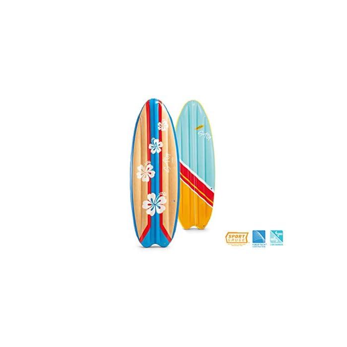 41b4tegGCJL Tabla de surf hinchable fabricada con tecnología FiberTech.; medidas: 178x69 cm Tabla hinchable totalmente estable con 2 cámaras de aire para mayor seguridad; peso máximo que soporta: 100 kg Fiber-Tech: Miles de fibras de poliéster de alta resistencia que no se estiran ni con el paso del tiempo ni por el uso, ofreciendo estabilidad duradera