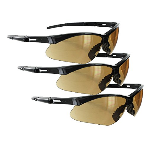 Rugged Blue Mojave Safety Glasses (Amber 3 pair)