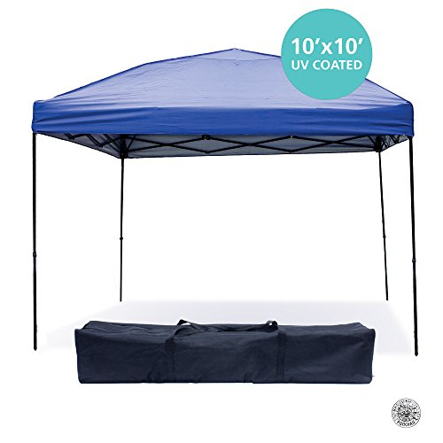 Outdoor Gazebo Canopy Tent - 10 x 10 Pop Up Canopies for Party (Blue) (Quest Sport Dome Canopy compare prices)