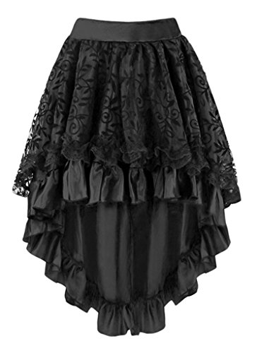 Alivila.Y Fashion Womens Vintage Victorian Lace Asymmetrical Dress Skirt -