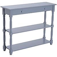 """HomCom 40"""" Wood Entryway Console Table - Grey"""
