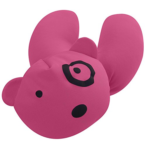 Cute Microbead Pillow : PackingPup - Cute Puppy Microbead Pillow - Convertible Travel Pillow (Powder Pink) For $14.99