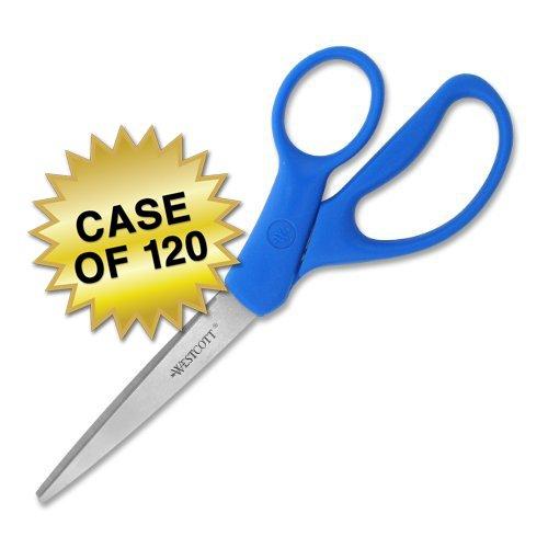 Westcott All Purpose Preferred Stainless Steel Scissors, 8'', Blue, Case of 120