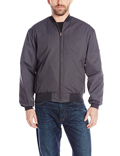 Red Pocket Chest Kap Coat (Red Kap Men's Solid Team Jacket, Charcoal, Long 3X-Large)