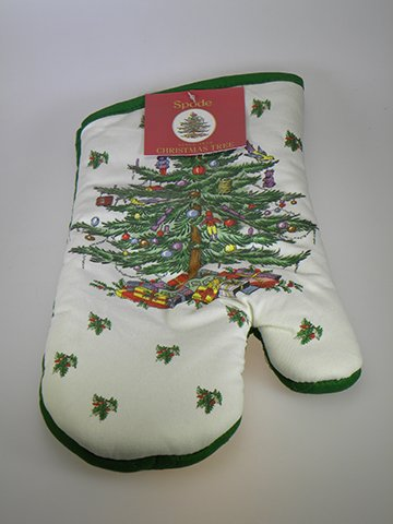 Spode Christmas Tree Oven Mitt - Spode Christmas Tree Fabric