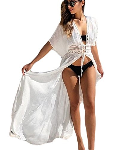 White Swimsuit Cover Up - 3