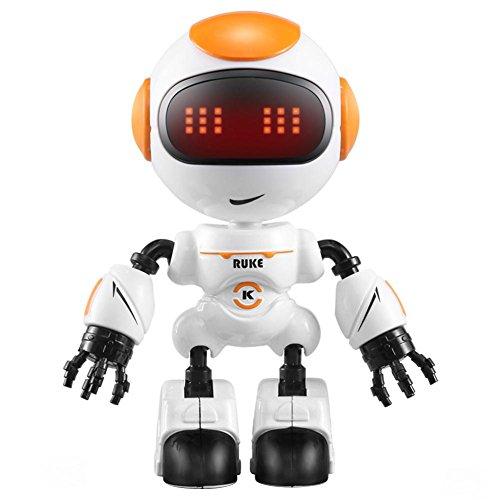 Domybest ラジコンロボット 人型ロボット タッチ制御操作 JJRC R8 インテリジェント 子供おもちゃ 多機能 LEDライト 可愛い 誕生日プレゼント 人気 (オレンジ)