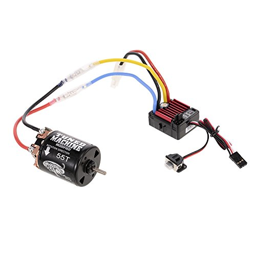 Hobbywing QuicRun WP 1060 Brushed 60A ESC 2-3S 6V/3A BEC and Snow Panther Hobby 540 55T Brushed Motor for 1/10 Axial SCX10 D90 Rock Crawlar RC Buggy