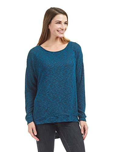 WT1461 Womens Long Sleeve High Low Loose Knit Sweater Top M Teal_Black by Lock and Love (Image #1)
