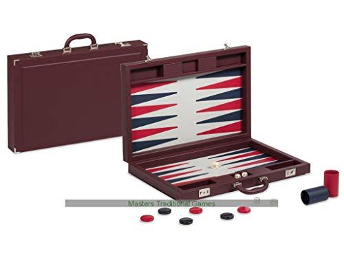 (Dal Negro Bordeaux PRO Briefcase Leatherette Backgammon Set )