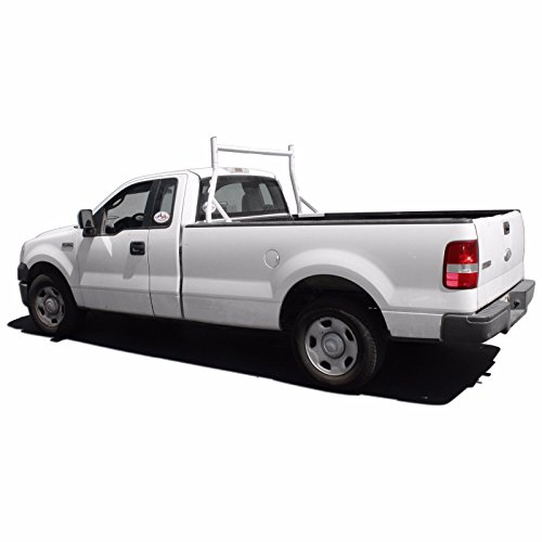 AA-Racks X35-A Single-bar Truck Rack Cargo Pick up Contractor Matte White ()