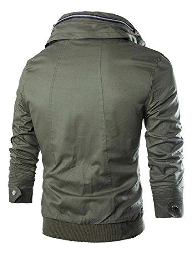 Capispalla Sport Design Giacca Uomo Cappotto Sottile Casuale Inverno Tendenza Uomini Jeansian 9027 Armygreen Moda xaPZg