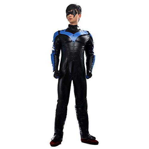 MLYX-Mens-Batman-Arkham-City-Nightwing-Cosplay-Costume-RedBlue-Outfit-Halloween