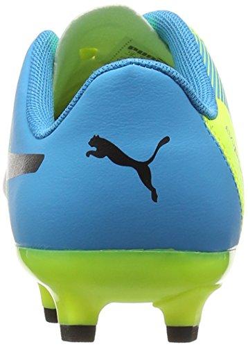 Puma Evopower 4.3 Firm Ground Junior - Zapatillas de fútbol Unisex para niños Amarillo - Yellow (Yellow/Black/Blue)