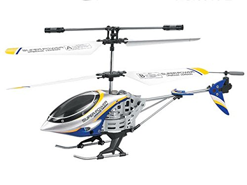 Dazzling Toys Remote Controlled Helicopter – For Indoor or Outdoor – 3.5 Channels for Accurate Flying – Alloy Design –Great Gift for Kids Color Blue