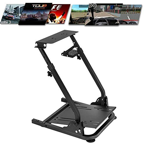 Racing Simulator Steering Wheel Stand Thrustmaster Frame Pro Cockpit for Gloria Shifter Mount Logitech G29 G25 G27 ,Wheel Pedals NOT Included Racing Wheel Stand US STOCK