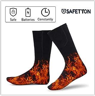 SAFETYON Calcetines Térmicos de Algodón para Hombre y Mujer con Batería Templado Prolongadamente para…
