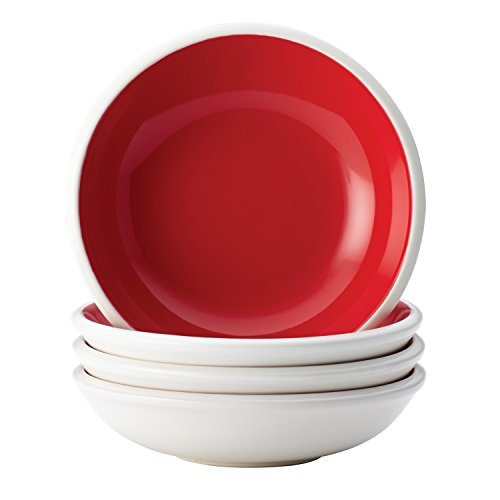 Rachael Ray 58740 Dinnerware Rise Fruit Bowl Set, 4 Piece, Red