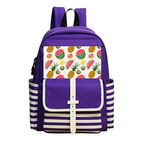 Pineapple Watermelon Backpack School Bags Student Book Bag Daypack For -