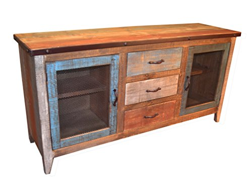 Rustic Solid Reclaimed Wood Sideboard Multi Pupose Console China Cabinet For Sale