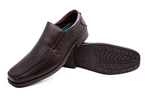 Heelzohigh Mens Brown Slip-On Work Wedding Smart Casual Loafers Comfort Shoes Sizes 7-12 BMOuVCr4