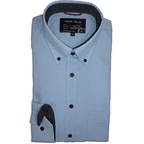 16db93aaf81a1 well-wreapped marvelis Camisa Camisa Hombre Casual de manga larga Color Azul  Claro estampado 6011.64