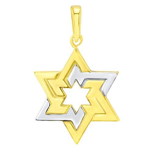 14K Yellow Gold Seal of Solomon Star of David Pendant ()
