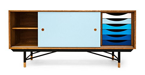 1955 Color Theory Mid-century Modern Sideboard Credenza Cabinet, Gradient Drawers 41b4yBBVioL